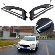 2pcs Xenon White LED Daytime Running Lights DRL Fog Lamps for 15-16 Ford Focus