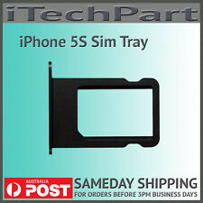Black Nano SIM Card Tray Replacement For iPhone 5S