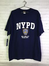 NYPD T-Shirt Officially Licensed New York City Police Department Blue Mens 2XL