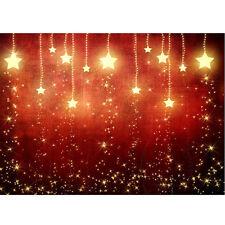 7X5FT Christmas Vinyl Star Backdrop Photography Prop X'MAS Photo Background New