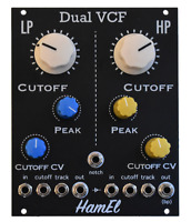 Dual VCF Analog Synth Module - Eurorack LP/HP/BP/Notch // Hampshire Electronics