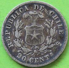 CHILI 20 CENTAVOS 1871