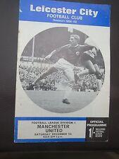 Leicester City V Manchester United   1968/9