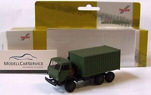 Herpa-Minitanks 1/87: 744935 Kamaz 5320 Box Truck, Olive Green