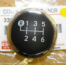 Genuine Toyota Avensis 6 Speed Chrome Gear Change Knob Top Only 33624-09010 New