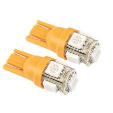 Orange Amber T10 5SMD LED Light Bulbs W5W 501 Blinker Indicator Side Wedge 12V