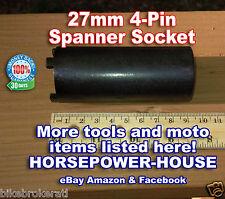 27mm ID 4-PIN SPANNER TOOL LOCKNUT TOOL FITS MANY OLDER HONDA MOTORCYCLES ATV