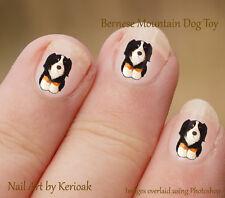 Bernese Mountain Dog peluche giocattolo Set di 24 DOG NAIL Art Adesivi Decalcomanie,