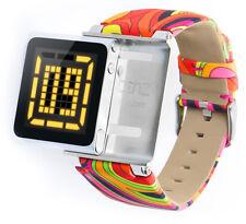 iWatchz Psychedelic Orange Armband für Apple iPod Nano 6 ,Stoff,nanoclipz NEU