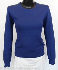 AQUASCUTUM Ladies SOPHIA Crew NECK Jumper Sweater sz S BLUE BNWT