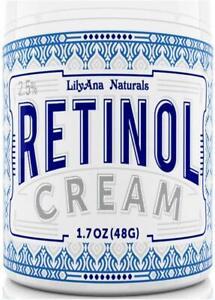 LilyAna Naturals Retinol Cream Moisturizer 1.7 Oz Anti-Aging + FREE Argan Oil