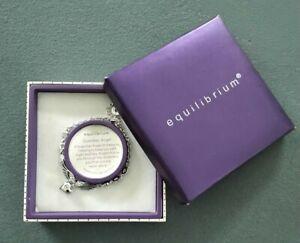 Equilibrium Platinum Plated Guardian Angel Bracelet
