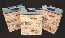 Hallmark new baby gift bags ebay hallmark baby shower gift bags with handles blue 12 34 x 10 14 lot of 3 new negle Choice Image