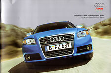 Audi A4 S4 Saloon & Avant 2006-07 UK Market Brochure SE S line Special Edition