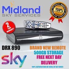 SKY PLUS +HD BOX AMSTRAD DRX890 WITH REMOTE **500GB**SLIMLINE BOX***