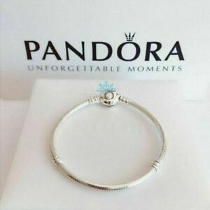 New Genuine Pandora S925 Silver Moments Heart Clasp Charm Bracelet 590719
