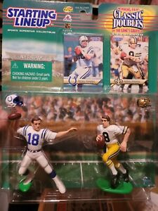 Starting Lineup Classic Doubles Peyton & Archie Manning Colts Saints 1999 SLU