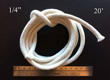 1/4 Round Cotton Wick 20' Kerosene Lantern Lamp Tiki Rock Candle Wick USA Seller