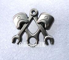 ZP482 Unusual Freemason Masonic Square Compass Motor Mechanic Pin Badge Engineer