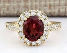 2.63 Carat Natural Sapphire 14K Yellow Gold Diamond Ring