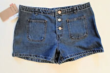 "NWT Junior Size 9 Levis Button Fly Denim Jean Shorts Blue Red Tab 31.5"" Waist"