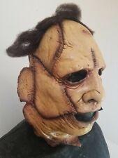 Leatherface Skinner Half Face Deluxe Latex Mask Texas Chainsaw Massacre Horror