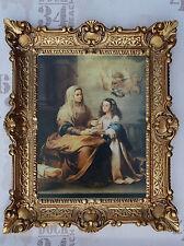 Gemälde Jesus Maria Ikonen Heiligenbild mit Rahmen 56x46 cm Religiöse Bilder 40