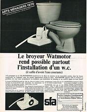 PUBLICITE ADVERTISING 035  1970  SFA  sanibroyeur WATMOTOR