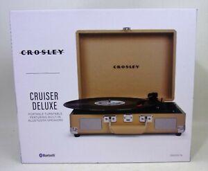 Crosley Cruiser Deluxe Portable 3 Speed Bluetooth Record Player CR8005DTA TAN