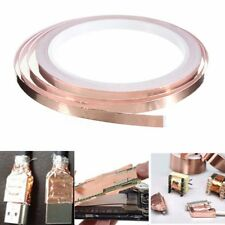 6mmx10m Copper Sheet Foil Shielding Tape Conductive Self Adhesive Barrier