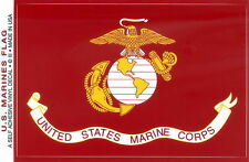 "US Marine Flag Sticker 3.5""x5.0"" Decal Marine Military Vinyl - Made in USA"