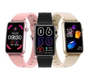 "1.58"" Bluetooth BP Heart Rate IP68 Sports Fitness Tracker Smart Watch ZX17"