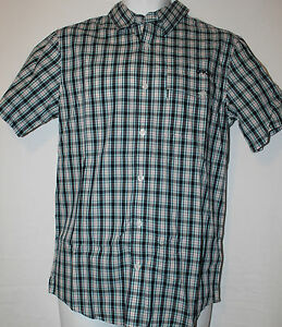 Authentic Oakley Men's Woven Checkered Shirt Top Polo Small BNWT RRP £45