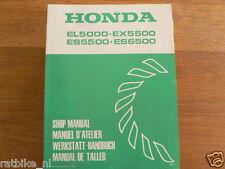 HONDA EL5000,EX5500,ES5500,ES6500  SHOP MANUAL FACTORY BOOK GENERATOR POWER K1