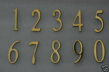 "Address Numbers, Mailbox numbers, House numbers, 2"" Brass - Self Adhesive"
