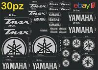 MAXI KIT 30 PZ DI ADESIVI YAMAHA OLD  TMAX  T- MAX 500 - 530 COLORE ARGENTO