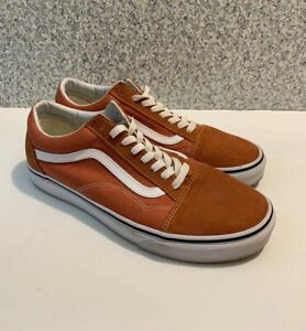 Vans  Orange Lace Up Casual Suede/canvas Skate Sneaker Shoe Men Size 9.5