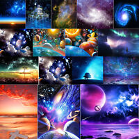 DIY 5D Diamond Painting Space Sky Stars Embroidery Needlework Cross Stitch Decor