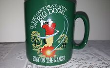 If You Can't Drive With The BIG DOGS Stay On The Range Golf Cup Large Jumbo Mug