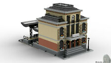 PDF-Bauanleitung: Bahnhof, Modular Building aus Noppensteinen, u.a. Lego