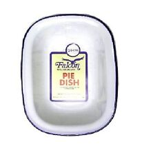 Enamel Pie Dish 20cm by Falcon Easy to Clean and Very Hard Wearing