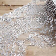 Blanco Crudo Bordado Encaje Novia Cinta Ribete Floral Encordado Vestido de Novia