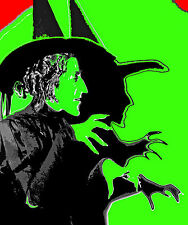 HALLOWEEN WIZARD OF OZ WICKED WITCH OF THE WEST RETRO ART HUGE 3 FEET CANVAS
