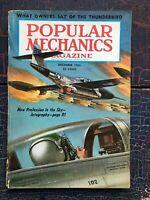 Vintage Popular Mechanics 1955 Jetography Photography Fighter War Thunderbird