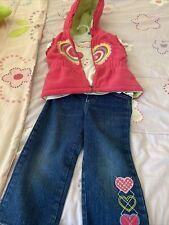 Macys Baby Headquarters Todler Girls 3 Piece Set Denim Pants Top Hoodie Vest 24M