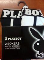 ARTICULO NUEVO lote 2 boxers playboy talla xl / 5 algodon underwear