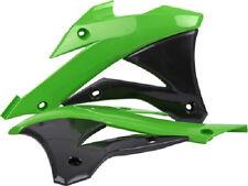 Polisport Radiator Shrouds Scoops Plastic Green Black Kawasaki KX250F 2013-2016
