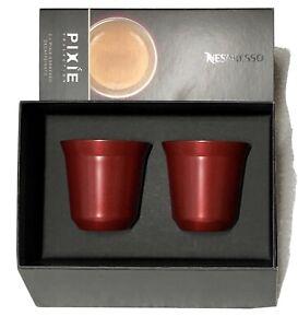 Tazzine Nespresso Pixie Alluminio Rosso