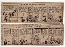 Little Orphan Annie by Gray - 21 large 5 column daily comic strips - Nov. 1935