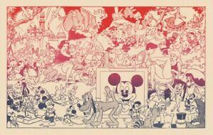 Wally Wood Disneyland Memorial Orgy Poster The Realist Blacklight
